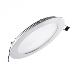 Downlight led de 18W Redondo, Luz Dia, Cerco Plata Quoled