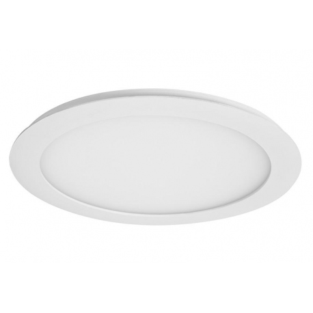 Downlight led de 12W Redondo, Luz Dia, Cerco Blanco Quoled
