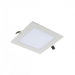 Downlight led de 12W Cuadrado, Luz Cálida, Cerco Blanco