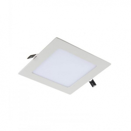 Downlight led de 12W Cuadrado, Luz Calida, Cerco Blanco Quoled