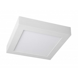 Downlight Superficie led de 12W Cuadrado, Luz Dia, Cerco Blanco Quoled
