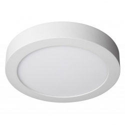Downlight Superficie led de 12W Redondo, Luz Dia, Cerco Blanco Quoled