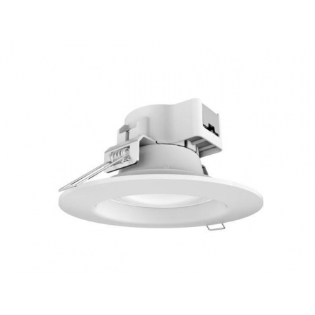 Downlight Estandar led de 25 W Redondo, Luz Calida, Cerco Blanco Quoled