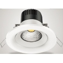 Downlight Cob Led de 6W Redondo, Luz Calida, Cerco Blanco Quoled